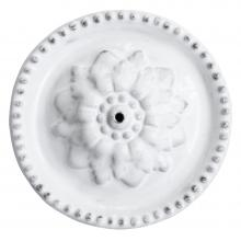 Emilie Incense Holder on Perles Saucer