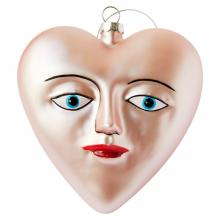 Blue-Eyed Heart Ornament