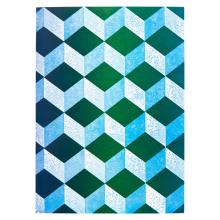 Notebook (Pale Blue and Dark Green)