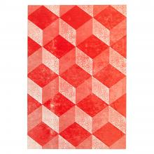 Medium Notebook (Mottled Red)