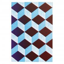 Medium Notebook (Dark Red and Pale Blue)